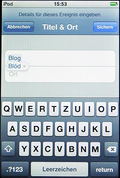 iPod Touch weiss: Blog gleich Blöd